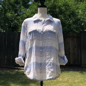 Horny Toad aka Toad&Co lightweight button up sz L